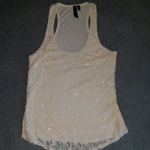 BKE Boutique sequined lace tank